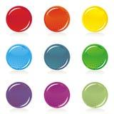 Глянцеватый цветастый пустой комплект кнопки Стоковое Изображение RF