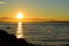 Гнать заход солнца Стоковые Изображения RF