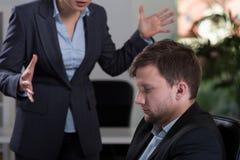 Гневный босс femle Стоковая Фотография RF