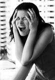 Гнев женщины Стоковые Изображения