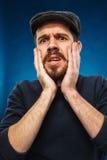 Гнев и кричащий человек Стоковое Изображение