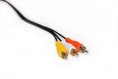гнезда 3 кабеля стоковое изображение rf
