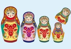 гнездиться кукол Стоковые Фото