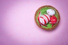 гнездй пасхального яйца Стоковая Фотография RF