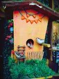 Гнездо птицы искусственное - для украшения стоковые фотографии rf