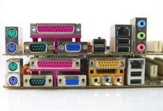 гнезда штепсельной вилки интерфейса компьютера Стоковая Фотография RF
