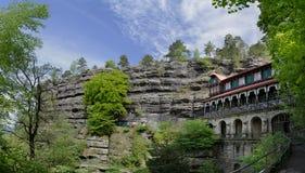 Гнездй орла, богемская Швейцария, чехия Стоковые Изображения RF