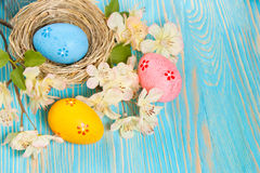 гнездй пасхального яйца Стоковое Фото