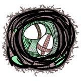 Гнездй пасхи Стоковые Фотографии RF