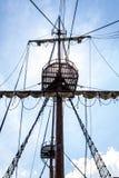 Гнездо рангоута и вороны парусного судна Стоковые Изображения RF