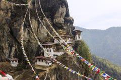 Гнездо тигра, Бутан Стоковое фото RF