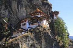 Гнездо тигра, монастырь Taktsang, Бутан стоковая фотография