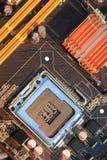 Гнездо C.P.U. компьютера Стоковое Фото