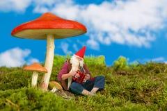Гном сада играя музыку Стоковое Фото