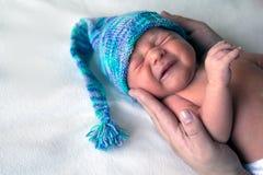Гном beanie Newborn мальчика голубой стоковое изображение rf