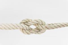 Гнуть веревочки совместно на белой предпосылке Стоковое фото RF