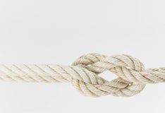 Гнуть веревочки совместно на белой предпосылке Стоковые Изображения RF
