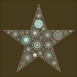 гобелен звезды 2 снежинок Стоковое Изображение RF