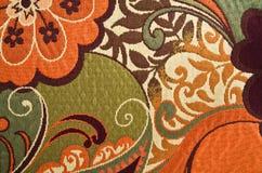 гобелен хлопко-бумажная ткани предпосылки флористический Стоковое Фото