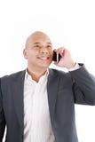 Говорить бизнесмена афроамериканца Стоковая Фотография RF