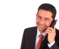 говорить бизнесмена Стоковое фото RF