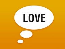 говорить влюбленности кнопки Стоковое фото RF