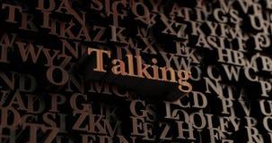 Говорить - деревянное 3D представило письма/сообщение бесплатная иллюстрация