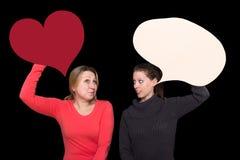 Говорить 2 женщин Стоковое Фото