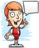 Говорить игрока рэгби шаржа иллюстрация вектора