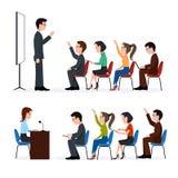 Говорить к аудитории Группа в составе студенты Тренировочный семинар иллюстрация штока