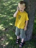 говорить мальчика Стоковые Фотографии RF