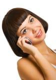 говорить мобильного телефона сексуальный стоковое фото