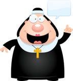 Говорить монашки шаржа иллюстрация вектора