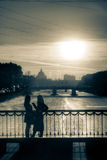 Говорить на заходе солнца 2 Стоковое Изображение