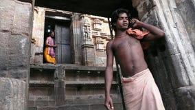 Говорить на телефоне. Индия Стоковое Фото