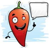 Говорить перца Chili шаржа иллюстрация вектора