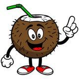 Говорить питья кокоса иллюстрация вектора
