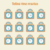 Говорить практику времени иллюстрация вектора