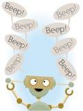 говорить робота beep милый душевнобольной иллюстрация штока