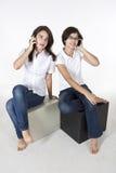 Говорить друг к другу Стоковое Изображение RF