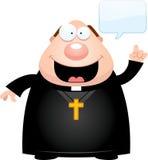 Говорить священника шаржа иллюстрация вектора