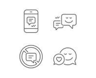 Говорить сообщения, стопа и сообщение иллюстрация вектора