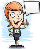 Говорить спортсмена следа шаржа иллюстрация штока