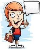 Говорить студента женщины шаржа иллюстрация штока