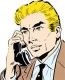говорить телефона бизнесмена бесплатная иллюстрация