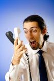 говорить телефона бизнесмена Стоковые Фотографии RF