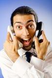 говорить телефона бизнесмена Стоковая Фотография RF