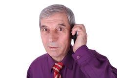 говорить телефона человека старший Стоковое Фото
