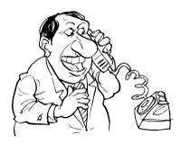 говорить телефона Бесплатная Иллюстрация