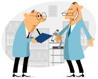 Говорить 2 ученых иллюстрация вектора